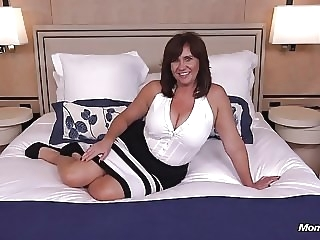 Thick busty Cougar MILF loves young cock milf old & young pov