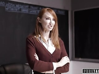 PURE TABOO Lesbian Teacher Makes Mom Spank her Brat-Daughter lesbian top rated redhead
