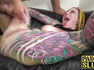 Busty and inked Piggy Mouth fucked anal before cum in mouth anal babe hd videos