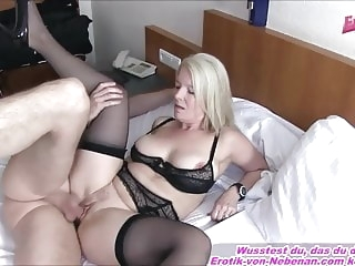 like MOTHER AND SON - German mature Housewife mom Creampie amateur mature creampie