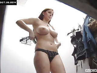 Teen Busty Girl Caught by Hidden Cameras amateur brunette voyeur