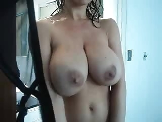 Watching Mommy in the Shower mature milf big tits