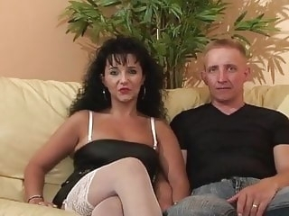 LJ95 Cristal & Fabrice casting fucked and ass fucked amateur anal milf