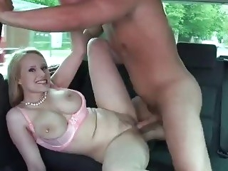 Takevan - Extremely dumb original blonde with big boobs fucked hard in car big boobs big tits blonde