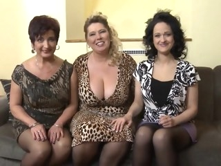 Group Mature big tits big ass group sex